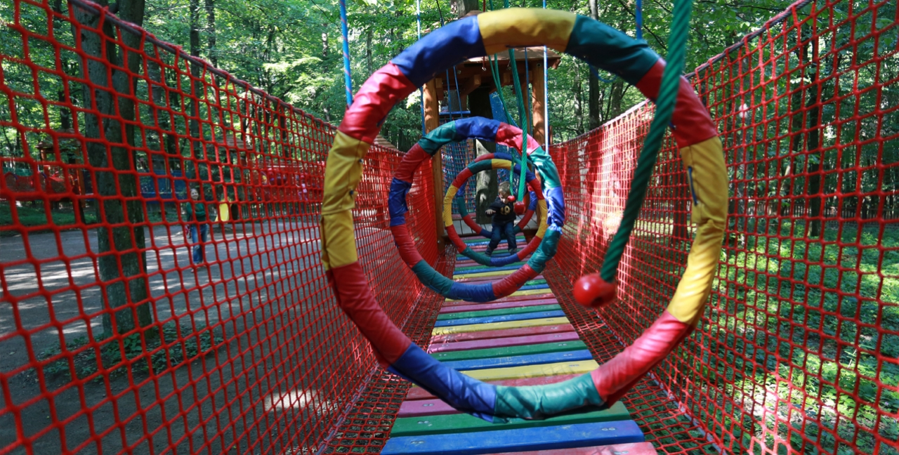The children's rope park