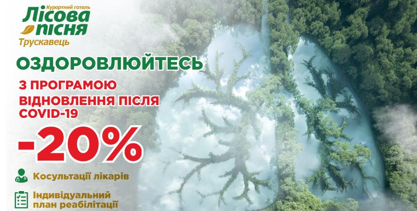 """-20% na program """"Powrót do zdrowia po COVID-19"""""""